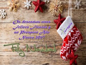 ¡¡¡Felices fiestas y próspero Año Nuevo 2017!!!